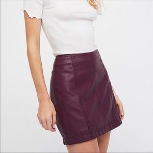 Free People Modern Femme Faux Leather Mini Skirt